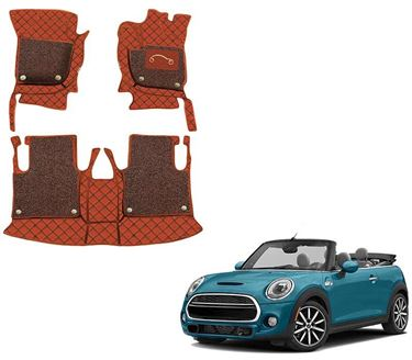 Picture of 7D Luxury Custom Fitted Car Mats For Mini Cooper S Convertible 2020 - Tan Black