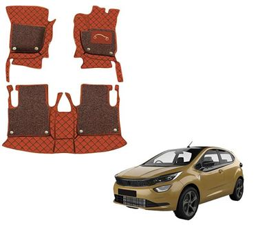 Picture of 7D Luxury Custom Fitted Car Mats For Tata Altroz 2020 - Tan Black