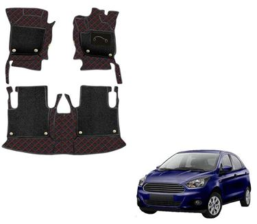Picture of 7D Luxury Custom Fitted Car Mats For Ford Figo - Black Red