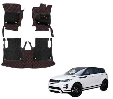 Picture of 7D Luxury Custom Fitted Car Mats For Land Rover Range Rover Evoque R-Dynamic 2020 - Black Red