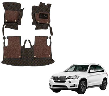 Picture of 7D Luxury Custom Fitted Car Mats For BMW X5 xDrive 2019 - Black Tan