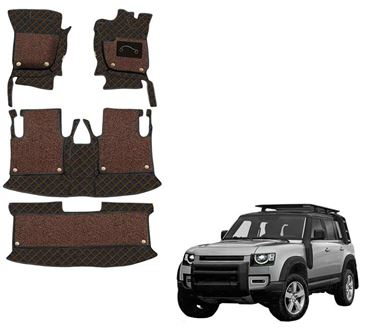 Picture of 7D Luxury Custom Fitted Car Mats For Land Rover Defender 2020 - Black Tan