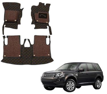Picture of 7D Luxury Custom Fitted Car Mats For Land Rover Freelander 2 2013 - Black Tan