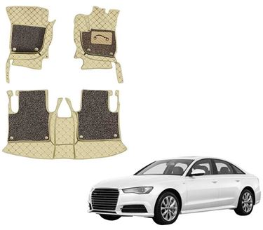 Picture of 7D Luxury Custom Fitted Car Mats For Audi A6 - Beige Coffee