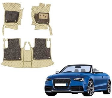 Picture of 7D Luxury Custom Fitted Car Mats For Audi RS5 2018 - Beige Coffee
