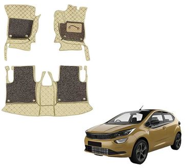 Picture of 7D Luxury Custom Fitted Car Mats For Tata Altroz 2020 - Beige Coffee