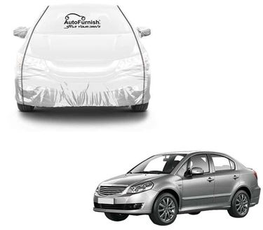 Picture of Parkin White See through Car Cover with Black Piping For Maruti SX4