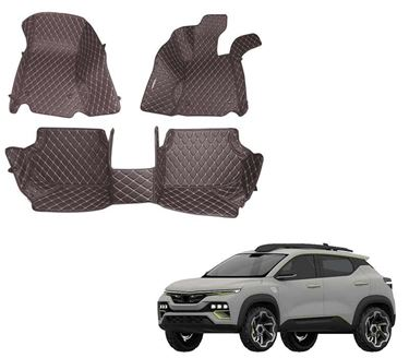 Picture of 5D Premium Custom Fitted Car Mats For Renault Kiger 2021 - Coffee