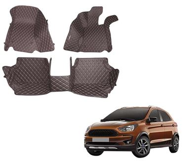 Picture of 5D Premium Custom Fitted Car Mats For Ford Freestyle 2018 - Coffee
