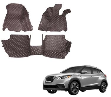 Picture of 5D Premium Custom Fitted Car Mats For Nissan Kicks 2019 - Coffee