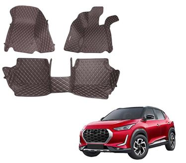 Picture of 5D Premium Custom Fitted Car Mats For Nissan Magnite 2020 - Coffee