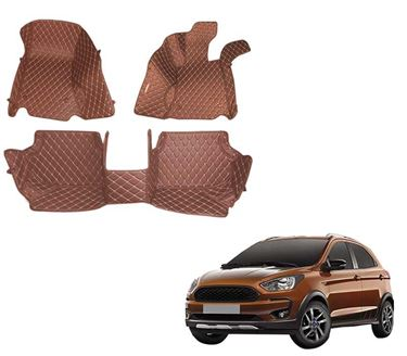 Picture of 5D Premium Custom Fitted Car Mats For Ford Freestyle 2018 - Tan