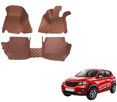 Picture of 5D Premium Custom Fitted Car Mats For Renault KWID  - Tan