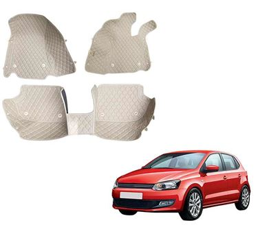 Picture of 5D Premium Custom Fitted Car Mats For Volkswagen Polo GT - Beige