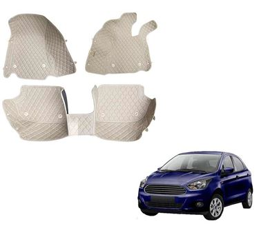 Picture of 5D Premium Custom Fitted Car Mats For Ford Figo - Beige
