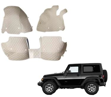 Picture of 5D Premium Custom Fitted Car Mats For Mahindra Thar 2020 - Beige
