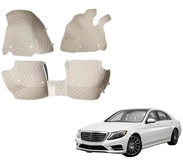 Picture of 5D Premium Custom Fitted Car Mats For Mercedes S500 2015 - Beige