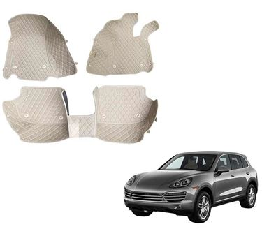 Picture of 5D Premium Custom Fitted Car Mats For Porsche Cayenne 2017 - Beige