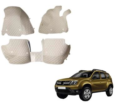 Picture of 5D Premium Custom Fitted Car Mats For Renault Duster 2016 - Beige