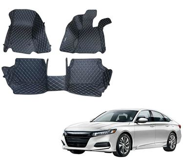 Picture of 5D Premium Custom Fitted Car Mats For Honda Accord 2015 - Black