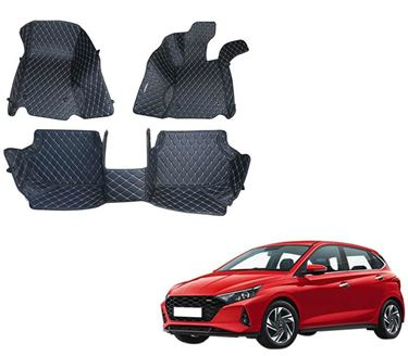 Picture of 5D Premium Custom Fitted Car Mats For Hyundai i20 2020 - Black