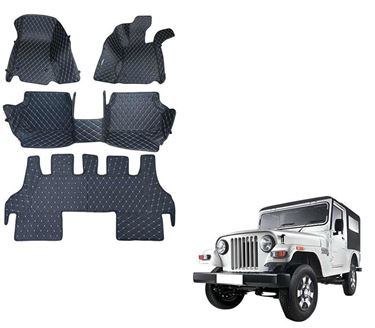 Picture of 5D Premium Custom Fitted Car Mats For Mahindra Thar - Black