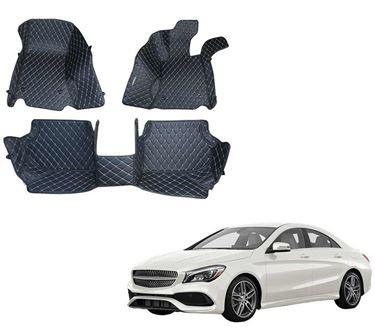 Picture of 5D Premium Custom Fitted Car Mats For Mercedes CLA - Black