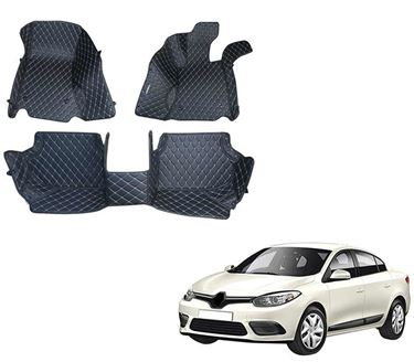 Picture of 5D Premium Custom Fitted Car Mats For Renault Fluence 2013 - Black