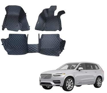 Picture of 5D Premium Custom Fitted Car Mats For Volvo XC90 Excellence 2019 - Black