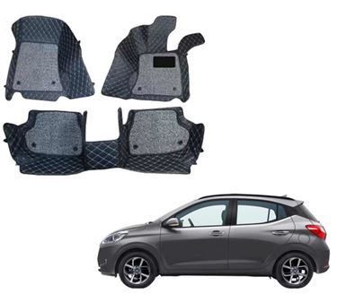 Picture of ULS 7D Economy Custom Fitted Car Mats For Hyundai grand i10 NIOS 2019 - Black