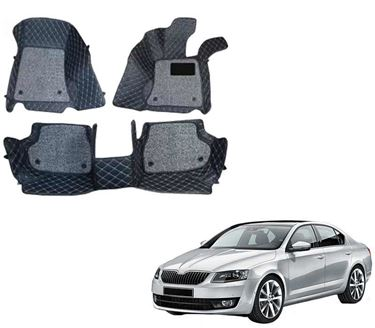 Picture of ULS 7D Economy Custom Fitted Car Mats For Skoda Octavia 2017 - Black