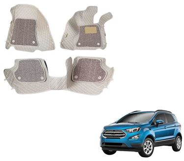 Picture of ULS 7D Economy Custom Fitted Car Mats For Ford Eco Sport - Beige