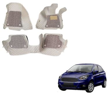Picture of ULS 7D Economy Custom Fitted Car Mats For Ford Figo - Beige
