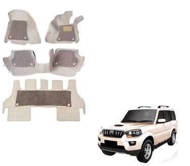 Picture of ULS 7D Economy Custom Fitted Car Mats For Mahindra Scorpio - Beige