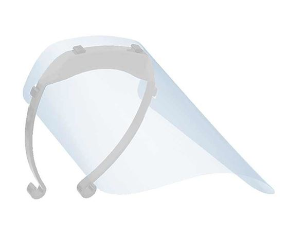 Picture of Mototrance Anti-Splash Face Shield with Adjustable Elastic Strap Protective Facial Cover Transparent Full Face Visor with Eye & Head Protection (Made in INDIA)