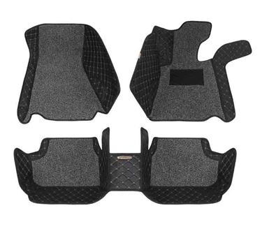 Picture of 5D Plus Car Mats For BMW X1 2016 - Black Grey