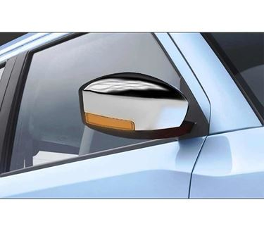 Picture of Chrome finish Outside Rear View Mirror (ORVM) Cover with Indicator Cut for Maruti Suzuki Wagon R 2019