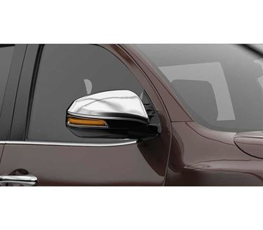 Picture of Chrome finish Outside Rear View Mirror (ORVM) Cover with Indicator Cut for Toyota New Fortuner