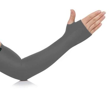 Picture of UV Protection Arm Sleeves with Thumb Holes - Grey