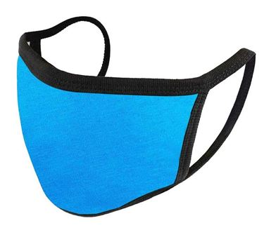 Picture of Unisex Pure Cotton Cloth Protective Anti-pollution, Washable, Reusable Face Cover Cloth for Men and Women - Color Aqua Blue