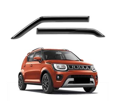 Picture of GFX Car Window Door Wind Visor with Silver Chrome Line for Maruti Suzuki Ignis 2016 Onwards