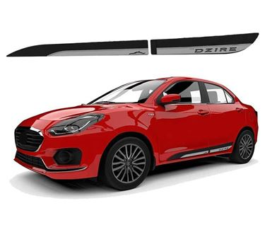 Picture of GFX ABS Door Cladding Side Beading Compatible for Maruti Suzuki Dzire 2017 Onwards