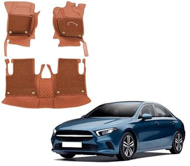Picture of 7D Luxury Custom Fitted Car Mats For Mercedes A-Class Limousine 2021 - Tan