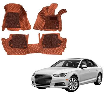 Picture of ULS 7D Economy Custom Fitted Car Mats For Audi A4 - Tan