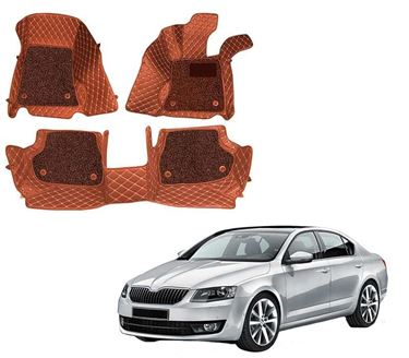 Picture of ULS 7D Economy Custom Fitted Car Mats For Skoda Octavia 2018 - Tan