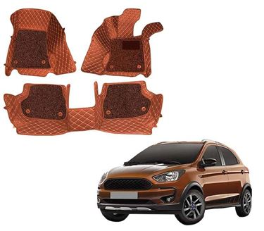 Picture of ULS 7D Economy Custom Fitted Car Mats For Ford Freestyle 2018 - Tan