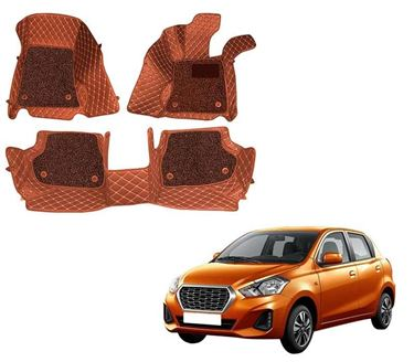 Picture of ULS 7D Economy Custom Fitted Car Mats For Datsun Redi-Go - Tan