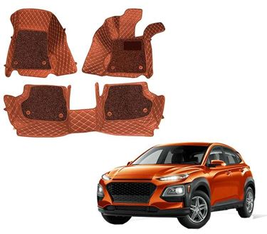 Picture of ULS 7D Economy Custom Fitted Car Mats For Hyundai Kona 2019 - Tan