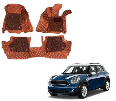 Picture of ULS 7D Economy Custom Fitted Car Mats For Mini Cooper S Countryman 2019 - Tan