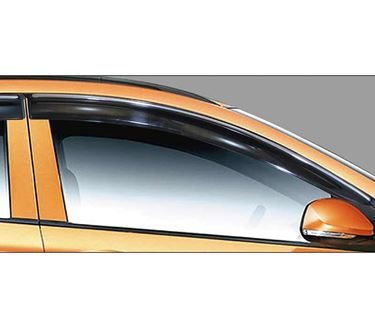 Picture of GFX Car Window Door Wind Visor with Silver Chrome Line for Hyundai i-10 Grand